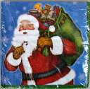 クリスマス 紙ナプキン 16枚入り 33cm クリスマスサンタ アメリカ製 ランチョンナプキン 飾り付け 撮影小物 ブルー レッド イベント 店舗装飾 ディスプレイ 【1点までネコポスOK】
