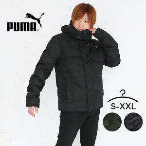 プーマ ダウンジャケット メンズ アウター 冬 puma 撥水 ダウン ジャケット アウトドアウェア 大きいサイズ 黒 カーキ カモ柄 カジュアル 防寒着 迷彩柄 キャンプ 秋冬 S M L XL O XXL 2XL ジャンパー ブルゾン 男性 フーデッドダウンジャケット 大人