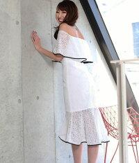 キャバドレスミディアムドレス大人ワンピースきれいめ白