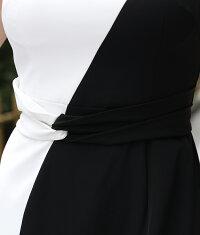 エルケイバイカラーミニワンピースドレス