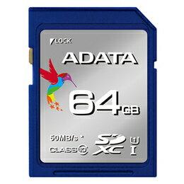 ADATA Premier SDHC卡64GB Class10 UHS-I ASDX64GUICL10-RASDX64GUICL10-R(折扣服務不可,靠近,物品取消退貨給的不可,突然地有結束漏件)10P03Dec16