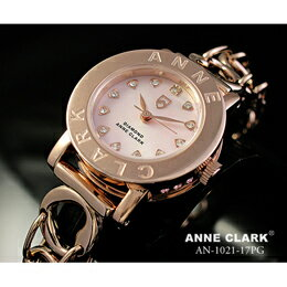 ANNE CLARK ワンポイント 天然入り レディース AN1021-17PG【取り寄せ品キャンセル返品不可、割引不可】