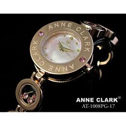 ANNE CLARK 天然1P ムービングカラーストン レディース ブレスウォッチ  AT1008-17PG【取り寄せ品キャンセル返品不可、割引不可】