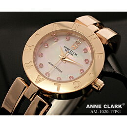 ANNE CLARK ハート&クロス レディースウォッチ AM1020-17PG【取り寄せ品キャンセル返品不可、割引不可】