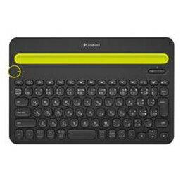 ロジクール マルチデバイス対応Bluetoothキーボード (ブラック) K480BK【取り寄せ品キャンセル返品不可、割引不可】