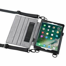 サンワサプライ スタンド機能付きショルダーベルトケース(iPadPro9.7/iPadAir2兼用) PDA-IPAD912【取り寄せ品キャンセル返品不可、割引不可】