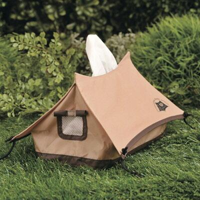 キャンプに持って行きたいミニチュアサイズのテント型ティッシュケース。車中用にも!