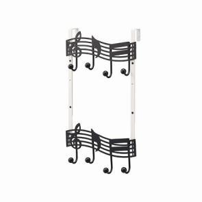 ドアハンガー 音符 2段★5250円以上で送料無料代引無料★お部屋のドアに帽子やバッグ、小物を...