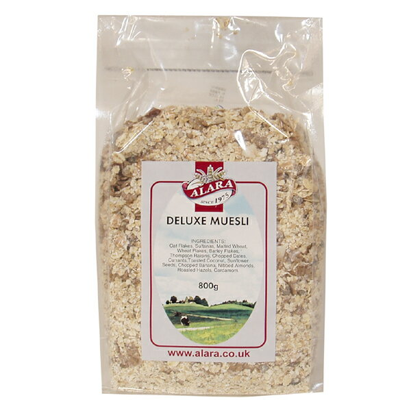 大感謝価格『アララ デラックスミューズリー 800g×32個セット』自然食 セットでお得 朝食 小麦ブラン ミルクなどで アララ デラックスミューズリー送料無料ポイント10P03Dec16