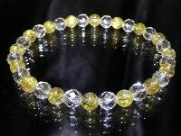 【【FORESTBLUE】ゴールドルチル&水晶ブレスレット6mmType2】ファッション天然石ブレスレット腕輪送料無料無料ポイント10P17Jan14