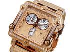 ドルチェメディオDOLCEMEDIOクオーツメンズクロノ腕時計DM8018QZ-PGBR(割引サービス、取り寄せ品キャンセル返品、突然終了欠品あり)