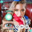【大感謝価格 】カラコン #CHOUCHOU (チュチュ) GLITTER SERIES メールブルー 1ヶ月 1箱1枚 度あり 度なし