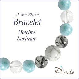 パワーストーン ブレスレット メンズ ハウライト(マグネサイト)・ラリマー 天然石 癒し 誕生日 プレゼント