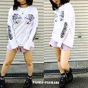ロングTシャツ/pasha-pasha88/パシャパシャ/XL/虎/タイガー/虎イラスト/長T/長袖/長袖tシャツ