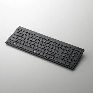 【即納】【送料無料】エレコム Bluetoothコンパクトキーボード/パンタグラフ式/薄型/マルチOS対応/ブラック [TK-FBP101BK]