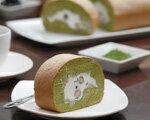 黒豆抹茶のロールケーキ