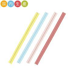 【ビニタイ4色アソート】【ストライプ】【120本】4色各30枚 メール便対応