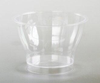 甜點杯 SH 185 cc 平原 / 20 糕點、 糖果、 手工製作的布丁類型塑膠杯布丁、 果凍和容器