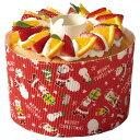シフォンカップ 15cm (ラブリーサンタ) 10枚入 シフォンケーキ 型 ベーキングカップ ケーキ型 日本製 紙型 紙 紙製 焼型 プレゼント お菓子作り 手作り 製菓用品 XS945-10 ハロウィン ハロウィーン HALLOWEEN