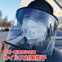 新型ウイルス 飛沫感染 肺炎 子ども ウイルス 対策 帽子 レディース メンズ つば広 日よけ ハット 花粉対策 透明 マスク 新型コロナウイルス 肺炎 ap087・・・
