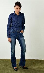 レディースレーヨンデニムシャツ