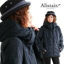 【送料無料】 ALISTAIR [アリステア] ブルゾン ジャケット 中綿 ダウンミックス ボリュームネック ハイネック ストレッチマイクロファ…