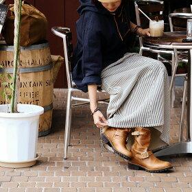 【予約販売】【送料無料】BLUETO[ブルート]マキシ丈サロペットスカートヒッコリー柄デニム10オンスビッグポケット(ノンストレッチ大きめ大きいサイズSML)
