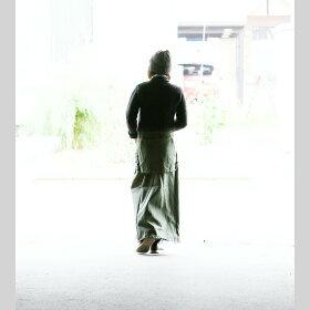 【送料無料】OAR'S[オールズ]マキシ丈スカートミリタリー|ロングスカート大きいサイズレディースマキシスカートカジュアル黒カーキマキシ丈スカート厚手コットンロング丈マキシロングスカートすかーと大人綿100%