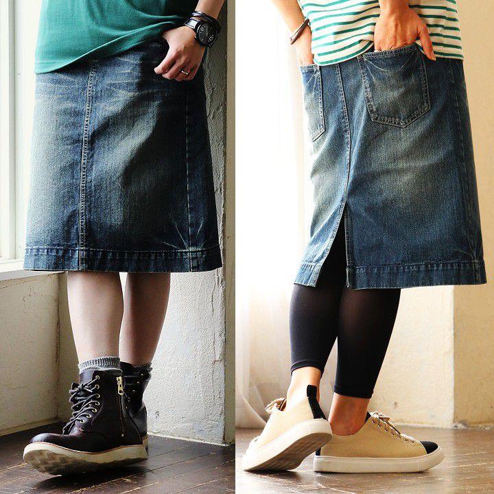 「ひざが隠れて、スッキリ美脚」な、本格デニムスカートがこの価格!?