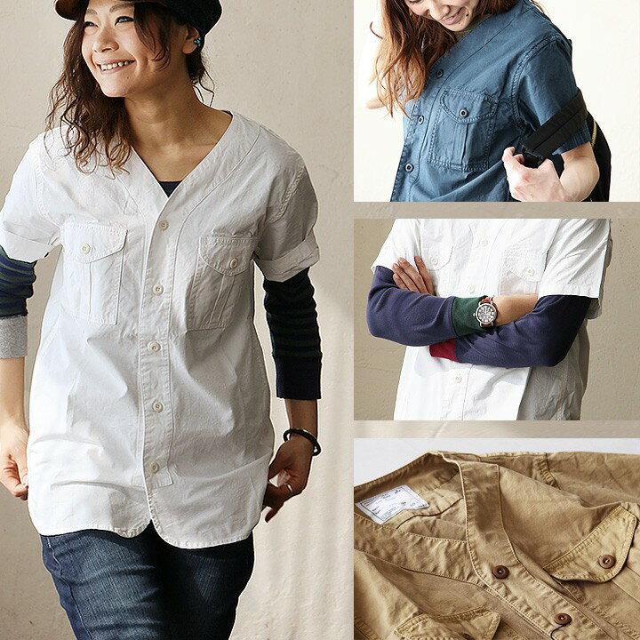 ミリタリーシャツに、この抜け感が良いですね。