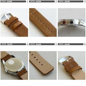 腕時計ビッグフェイスレザーバンドアナログBIGフェイスウォッチ4色メンズレディース男女兼用