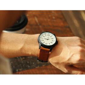 23)【全国一律送料324円】腕時計ビッグフェイスレザーバンドアナログBIGフェイスウォッチ4色メンズレディース男女兼用