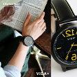 【予約販売】【送料無料】 VIDA+ [ヴィーダプラス] 時計 ビッグフェイス レザーベルト ウォッチ (ブラック×ブラック) 専用化粧箱付き メンズ レディース 時計 腕時計 VIDA+ GD-BR VIDA 45914 huge hole ステンレススチール
