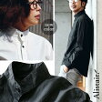 【送料無料】 ALISTAIR [アリステア] 長袖 シャツ 「 ハイ バンドカラー 」 日本製 タイプライター 刺繍入り ダックテール ブラック 黒 メンズ レディース 女性用 メンズシャツ レディースシャツ カジュアル 30代 40代