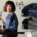 【全国一律送料324円】 SAIL [セイル] 長袖 カットソー バスク バスクシャツ コットン100% ワイドシルエット 「変形 パネル ボーダー…