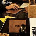 【送料無料】 BrownBrown [ブラウンブラウン] ステンシルプリント マウスパット レザー 革 本革 手縫い ハンドメイド プレゼント 贈り物 40代 50代
