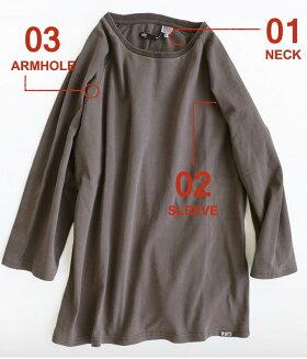 【全国一律送料324円】OAR'S[オールズ]7分袖Tシャツ七分袖カットソーコットンピグメントヘリンボーンリブメンズレディースヘビーウェイト|黒大きいサイズ綿100%厚手夏服夏夏物重ね着ティーシャツ綿クルーネックカジュアル40代50代