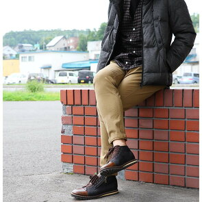 【予約販売】ミドルカット ブーツ PUレザー × PUスウェード 配色 切り替え サイドジップ ネイビー メンズ メンズシューズ カジュアルシューズ 靴 カジュアル 軽量 軽い | メンズブーツ サイドジップブーツ レースアップシューズ【送料無料】