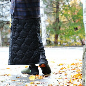 スカート カーゴ ロング丈 マキシ丈 「丈感が選べる」高機能 薄中綿 THERMOLITE サーモライト キルティング レディース  OAR'S