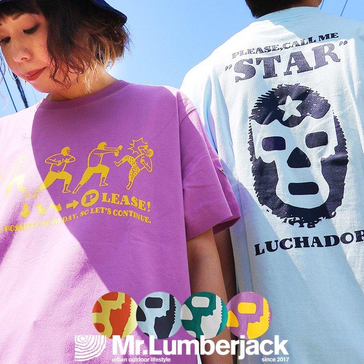 トップス, Tシャツ・カットソー  T 100 6.2 40 50 Mr.Lumberjack