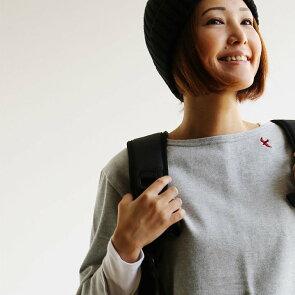 バスクシャツ七分袖7分袖カットソー『配色パイピングツバメ刺繍』日本製綿100%無地ボートネックレディーストップス大人カジュアル重ね着春夏秋冬40代50代SAIL[セイル]