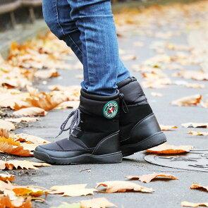 ブーツスノーブーツスノーシューズ内ボア部分防水「替え紐替えインソール2WAY」ワンポイントワッペン雪かき保温性防寒軽量レディースメンズ靴|シューズボアブーツ×PATY[×パティ]