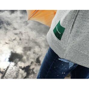 トレーナープルオーバーハイネックカラフル斜めジップ粗挽き杢裏毛スウェット綿100%コットンワイドシルエット配色ワンポイント刺繍メンズレディース40代50代春夏秋冬Mr.Lumberjack