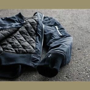 ブルゾンスカジャンMA-1中綿ジャケット「イーグル鷹刺繍入り」撥水ポリツイルナイロンメンズレディースALISTAIR