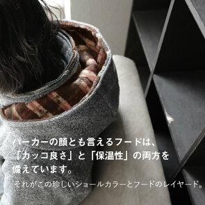 パーカー長袖ジップアップ「ショールカラーフードレイヤード」超軽量裏起毛ライトスライバーニットチェックパイピングレディースメンズ防寒暖かい秋冬アウター40代50代