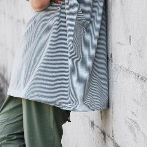 涼しい汗でベタつかない速乾微ストレッチクイックドライシアサッカービッグT五分袖TシャツAラインメンズレディースMr.Lumberjack