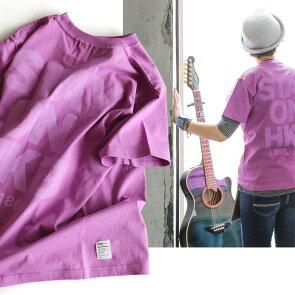 Tシャツ半袖ティーシャツプリントTクルーネック『配色STAYONHKDプリント』綿100%5.6オンスヘビーウェイト丸胴メンズレディース重ね着おしゃれ40代50代TOneontoNE[トーン]