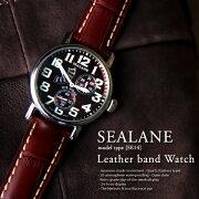 【送料無料】【SEALANE】【シーレーン】【SE14】【20気圧防水】【型押し】【レザー】【ウォッチ】【メンズ】【時計】【腕時計】【本革】【牛革】