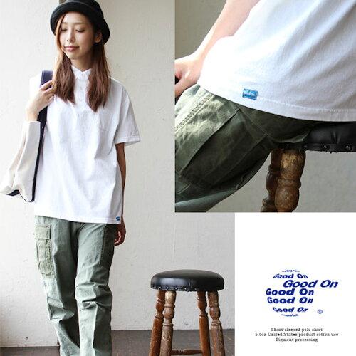 GOOD ON [グッドオン] 半袖 ポロシャツ 5.5oz アメリカ産コットン使用 ピグメント加...