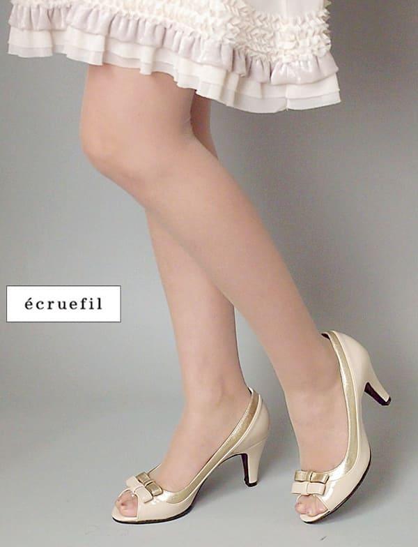 【レンタル】レンタル シューズ【パンプスレンタル|ゴールドベージュ24.0cm(L)】ecruefil エクリュフィルネット レンタル 結婚式 靴 サンダル 【RCP】 fy16REN07